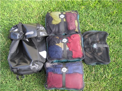 Using the Eagle Creek Pack-it Cubes with the Ortlieb Back Packer Classic