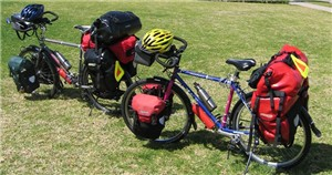 Two bikes with the Ortlieb Front and Rear Panniers