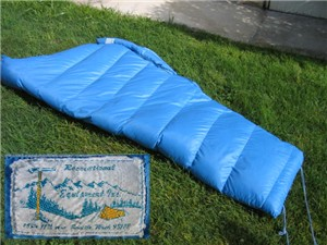 Vintage REI (Recreational Equipment Inc.) Blue Down Sleeping Bag