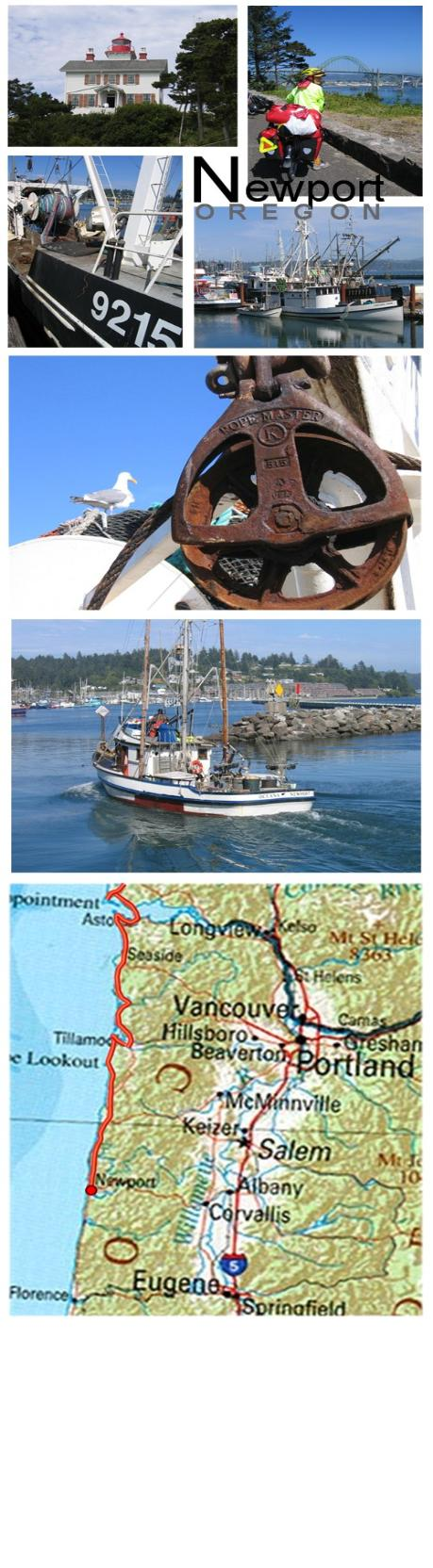 Cycle (Bicycle) touring photos and map from Newport, Oregon